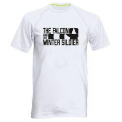 Чоловіча спортивна футболка Falcon and winter soldier logo