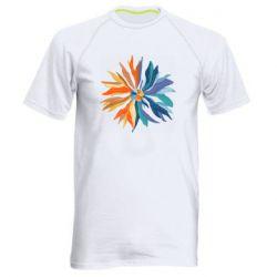 Чоловіча спортивна футболка Flower coat of arms of Ukraine
