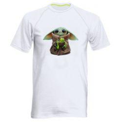 Чоловіча спортивна футболка Grogu and Kermit