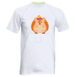 Чоловіча спортивна футболка Little hedgehog in a hat