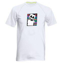 Мужская спортивная футболка Marshmello Colorful Portrait