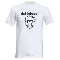 Чоловіча спортивна футболка Naruto dattebayo!