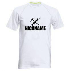 Чоловіча спортивна футболка Nickname fortnite weapons