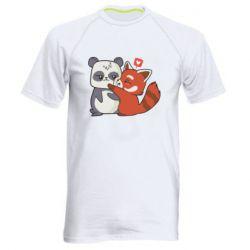 Чоловіча спортивна футболка Panda and fire panda
