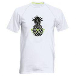 Мужская спортивная футболка Pineapple with glasses