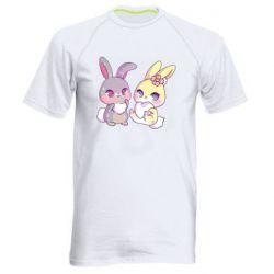 Чоловіча спортивна футболка Rabbits In Love