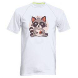 Чоловіча спортивна футболка Raccoon with cookies