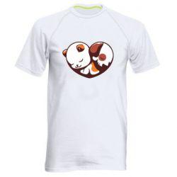 Чоловіча спортивна футболка Сердечко. Котик и собачка