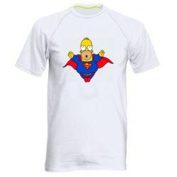 Мужская спортивная футболка Simpson superman