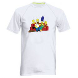 Мужская спортивная футболка Simpsons At Home