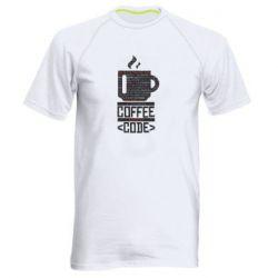 Чоловіча спортивна футболка Сoffee code