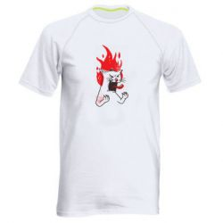 Чоловіча спортивна футболка The cat is mad