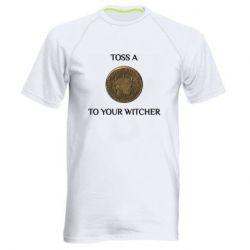 Чоловіча спортивна футболка Toss a coin to your witcher ( орен )