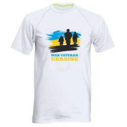 Чоловіча спортивна футболка War veteran оf Ukraine