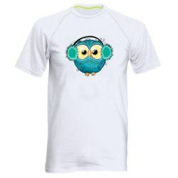 Мужская спортивная футболка Winter owl