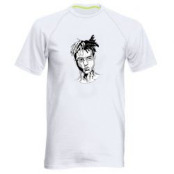 Мужская спортивная футболка XXXTentacion Monochrome Art