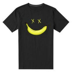 Мужская стрейчевая футболка Banana smile