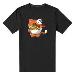 Чоловіча стрейчева футболка Cat and Ramen