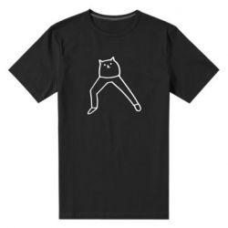 Чоловіча стрейчева футболка Cat in pants