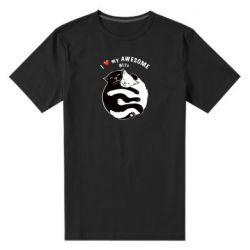 Мужская стрейчевая футболка Cats with a smile