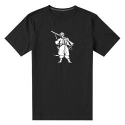 Мужская стрейчевая футболка Cossack with a gun