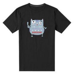 Мужская стрейчевая футболка Cute cat and text