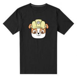 Чоловіча стрейчева футболка Dog in helmet