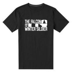 Чоловіча стрейчева футболка Falcon and winter soldier logo