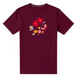 Мужская стрейчевая футболка Flowers and Butterflies