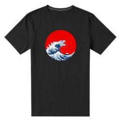 Чоловіча стрейчева футболка Godzilla Wave