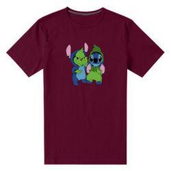 Чоловіча стрейчева футболка Грінч і Стіч