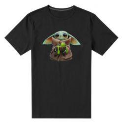 Чоловіча стрейчева футболка Grogu and Kermit
