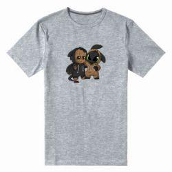 Мужская стрейчевая футболка Groot And Toothless