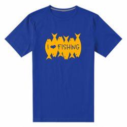 Чоловіча стрейчева футболка I Love Fishing