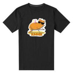 Чоловіча стрейчева футболка Котик на пляжі
