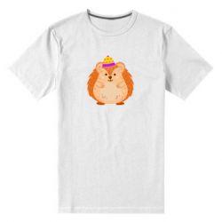 Чоловіча стрейчева футболка Little hedgehog in a hat
