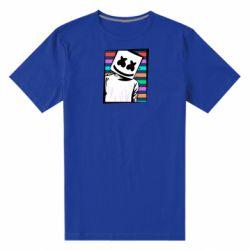 Мужская стрейчевая футболка Marshmello Colorful Portrait