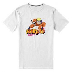 Чоловіча стрейчева футболка Naruto with logo