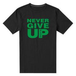 Чоловіча стрейчева футболка Never give up 1