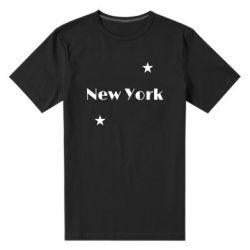 Мужская стрейчевая футболка New York and stars