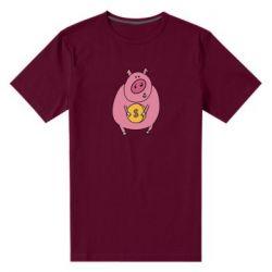 Чоловіча стрейчева футболка Pig and $