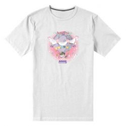 Мужская стрейчевая футболка Принцесса на воздушном шаре