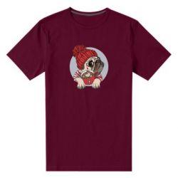Чоловіча стрейчева футболка Pug And Coffee
