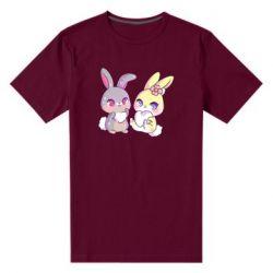 Чоловіча стрейчева футболка Rabbits In Love