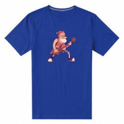 Чоловіча стрейчева футболка Rock'n'roll Santa