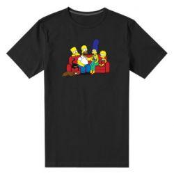Мужская стрейчевая футболка Simpsons At Home
