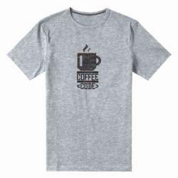 Чоловіча стрейчева футболка Сoffee code