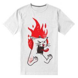 Чоловіча стрейчева футболка The cat is mad