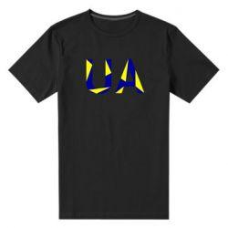 Мужская стрейчевая футболка UA Ukraine