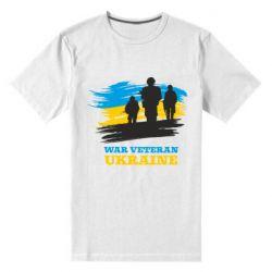 Чоловіча стрейчева футболка War veteran оf Ukraine